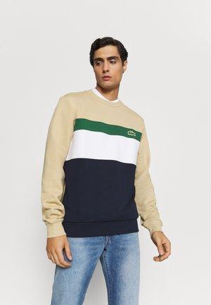 Sweatshirt - marine/farine vert viennois
