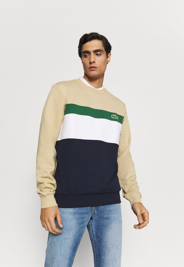 Sweater - marine/farine vert viennois