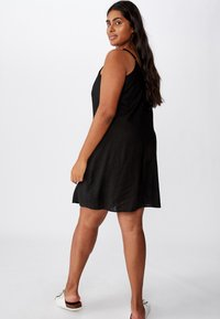 Cotton On Curve - CURVE MAISE STRAPPY - Day dress - black - 1