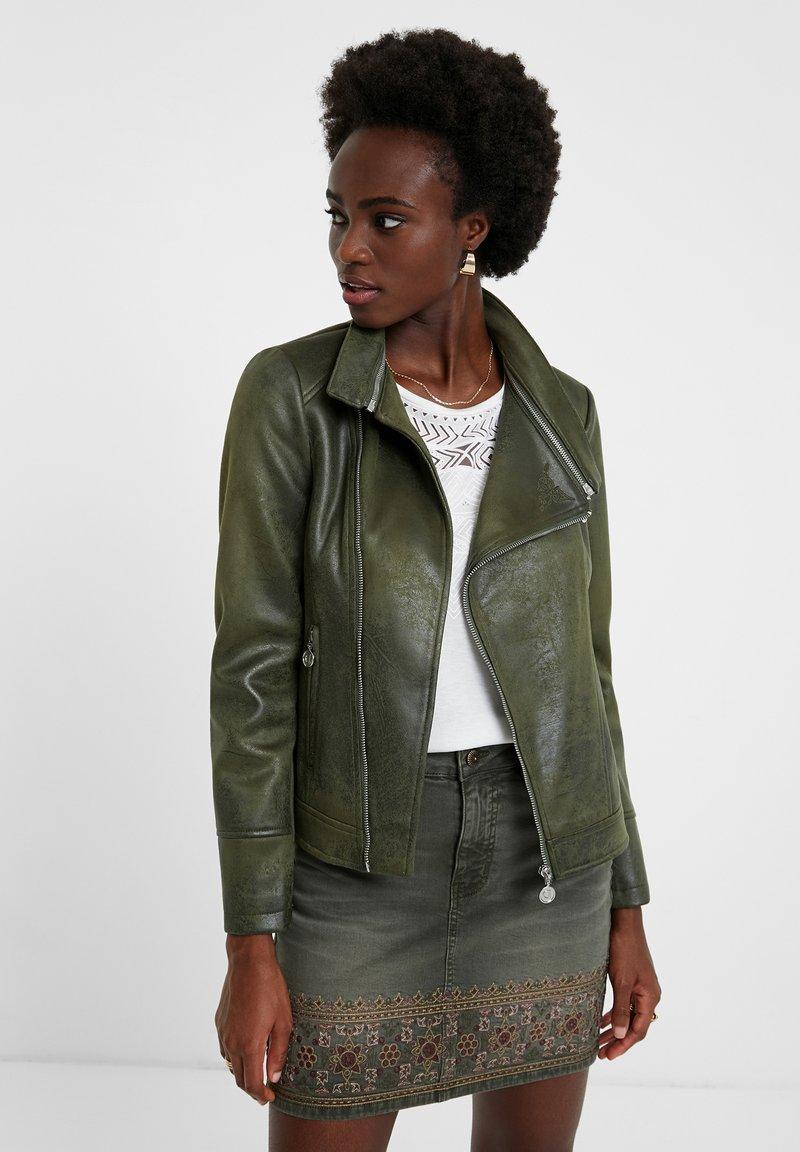 Desigual - BROWARD - Faux leather jacket - green