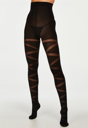 40 DENIER REVERSED GLADIATOR - Tights - black