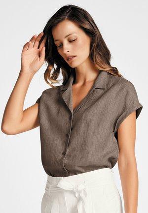 Button-down blouse - marone