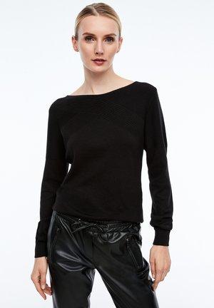 MIT STRUKTURMUSTER - Sweatshirt - black