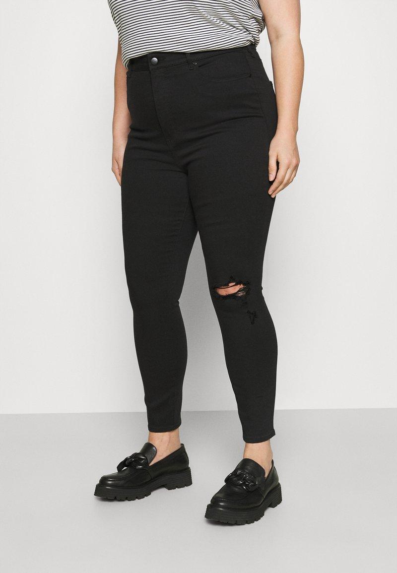 Forever New Curve - BIANCA RIP SKINNY - Jeans Skinny Fit - forever black
