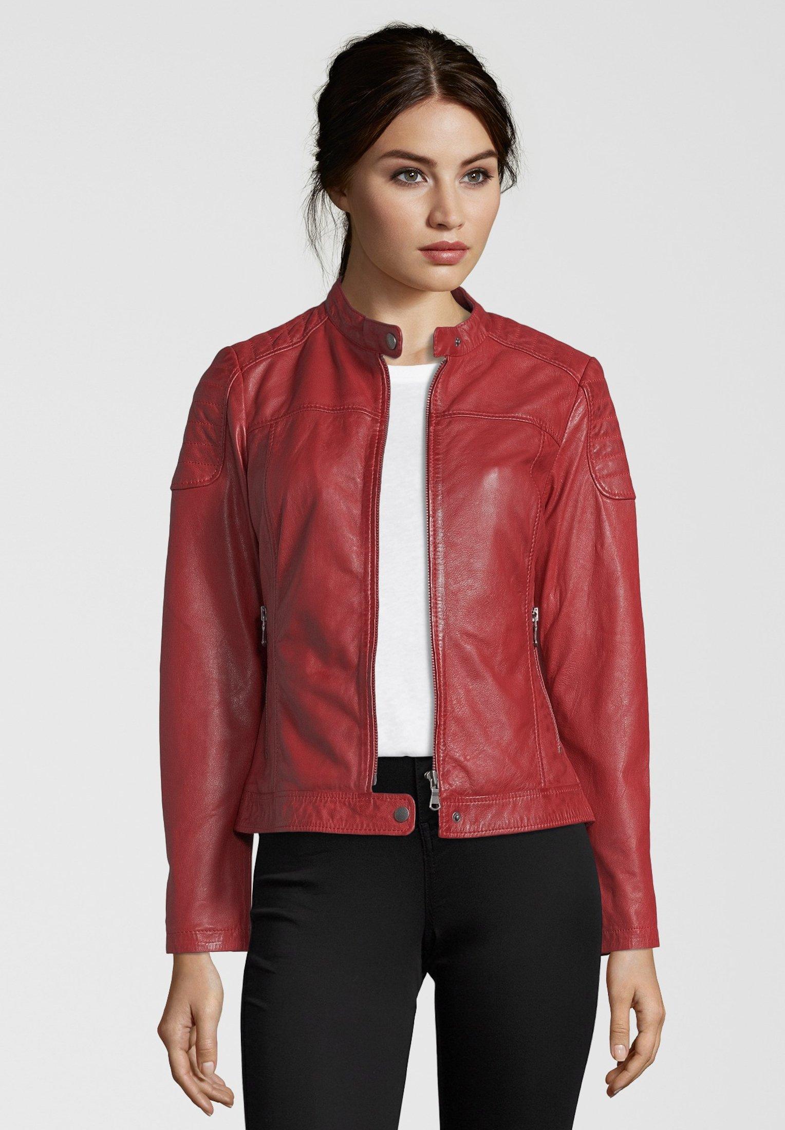 7eleven TALLY - Lederjacke - red | Damenbekleidung billig