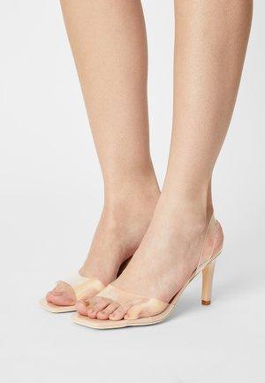 TEST ME SQUARE  - Sandals - beige