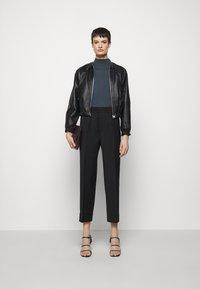 Filippa K - FRANCA COOL TROUSER - Kalhoty - black - 1