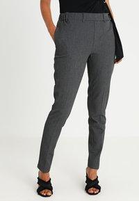 Kaffe - RONIE PANTS - Trousers - dark grey melange - 0
