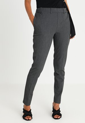 RONIE PANTS - Trousers - dark grey melange