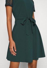 Vero Moda - VMJASMINE LACE TIE SHORT DRESS - Jersey dress - ponderosa pine - 6