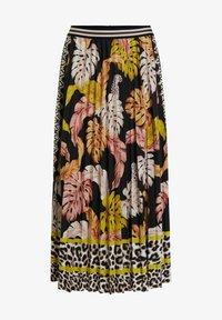 Oui - A-line skirt - black camel - 5