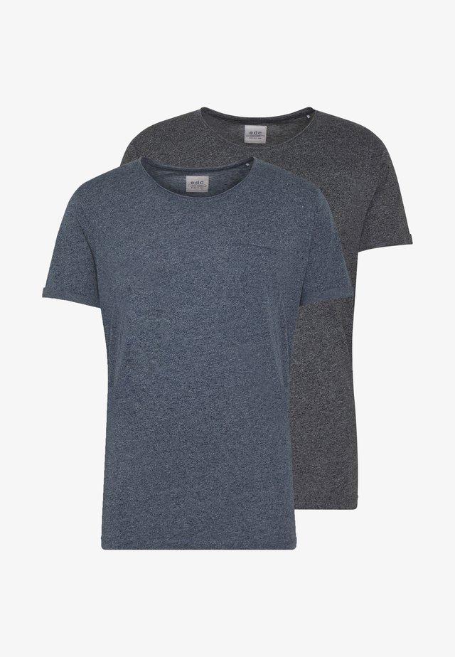 GRIND 2 PACK - Basic T-shirt - navy