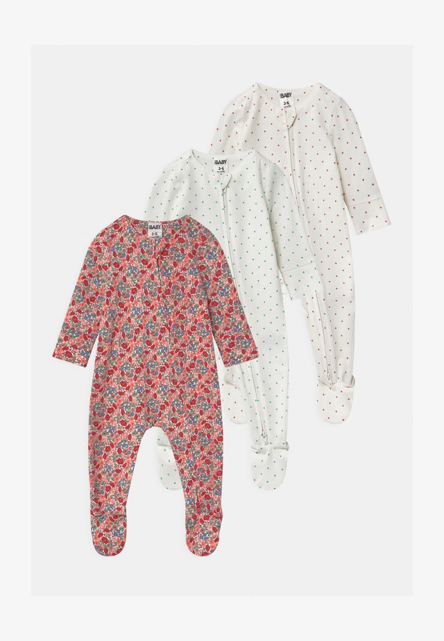 LONG SLEEVE ZIP 3 PACK - Sleep suit - lucky red/red orange