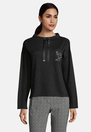 MIT KRAGEN - Sweatshirt - schwarz