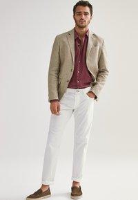 Massimo Dutti - SLIM-FIT - Shirt - bordeaux - 1