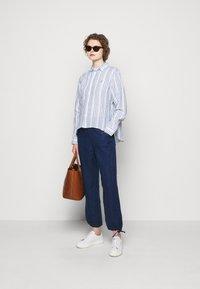 Polo Ralph Lauren - STRIPE - Button-down blouse - white/astor blue - 1