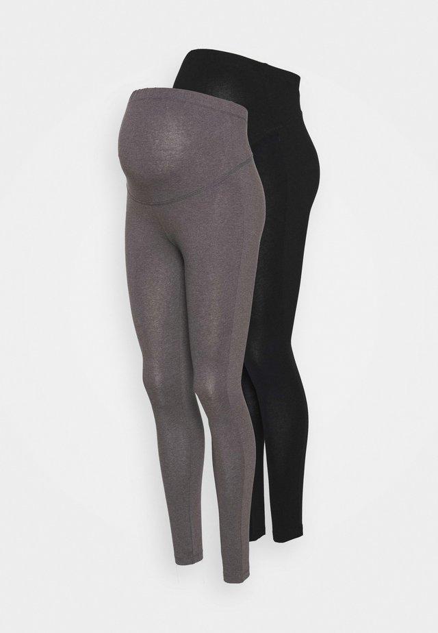 2 PACK - Legginsy - grey/black