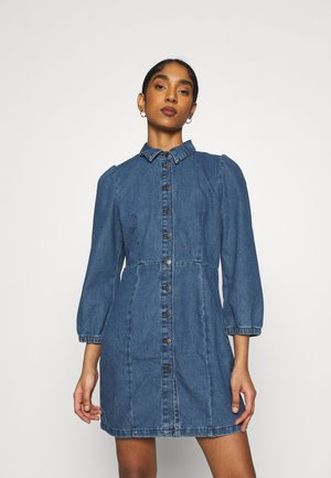 JDYATHENA DRESS - Denim dress - medium blue denim