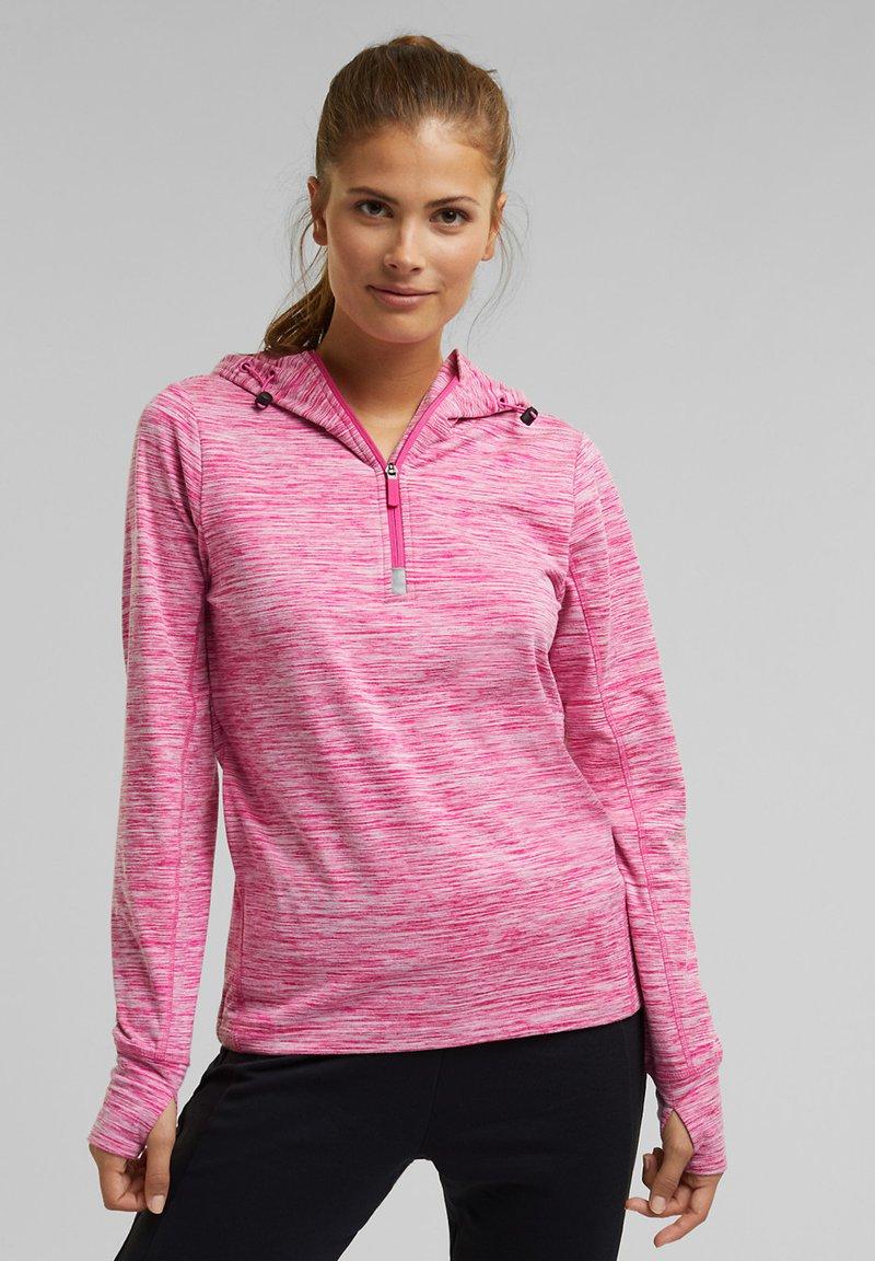 Esprit Sports - MIT E-DRY - Hoodie - pink fuchsia
