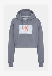 Calvin Klein Jeans - CROPPED HOODIE - Hoodie - shining armor - 5