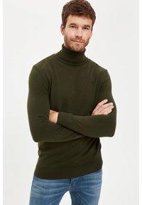 DeFacto - Stickad tröja - khaki - 2