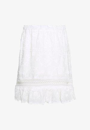 BRODERIE FRILL HEM TRIM INSERT SKIRT - Mini skirt - white