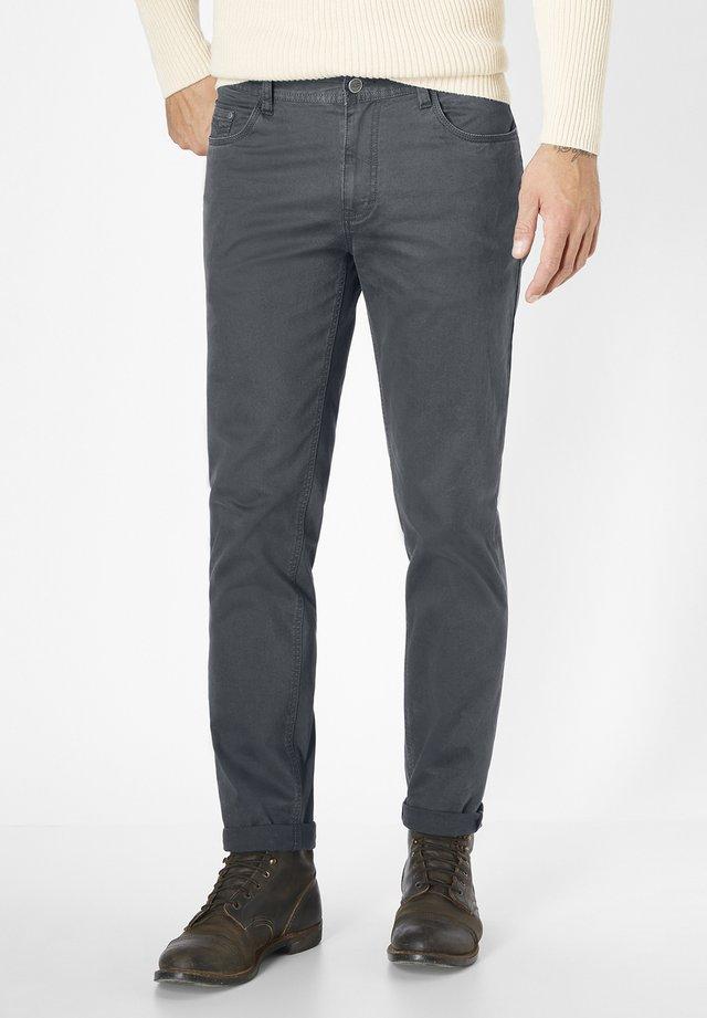 HERREN STRETCH 5-POCKET MILTON - Trousers - grey