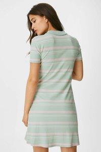 C&A - ARCHIVE - Shirt dress - green/rose - 1