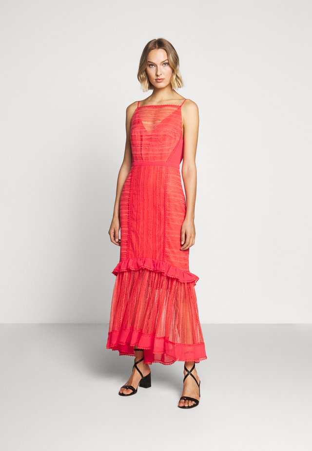 LYNDI DRESS - Vestido largo - spiced coral