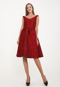 Madam-T - DANAY - Cocktail dress / Party dress - schwarz, rot - 1