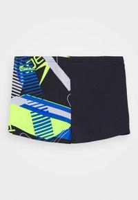 Speedo - ALLOVER AQUASHORT - Swimming trunks - true navy/bondi blue/fluo yellow/white - 1