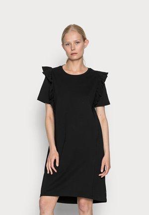 FRILL DRESS - Robe d'été - black