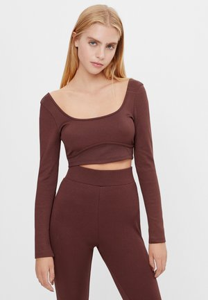 KORSAGE - Long sleeved top - brown
