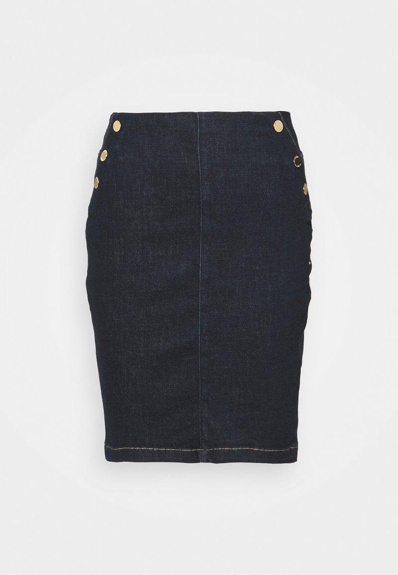 Guess - ULTRA MIDI SKIRT - A-line skirt - raw denim
