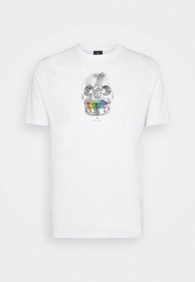 MENS REGULAR  FIT SKULL - T-shirt imprimé - white