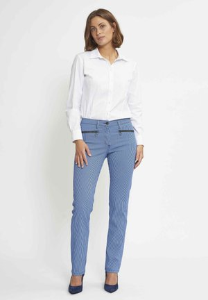 CHARLOTTE - Trousers - blue striped