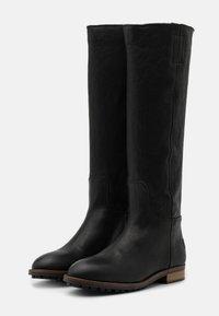 Shabbies Amsterdam - Vysoká obuv - black - 1