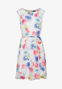 FLORAL FIT & FLARE - Day dress - off-white
