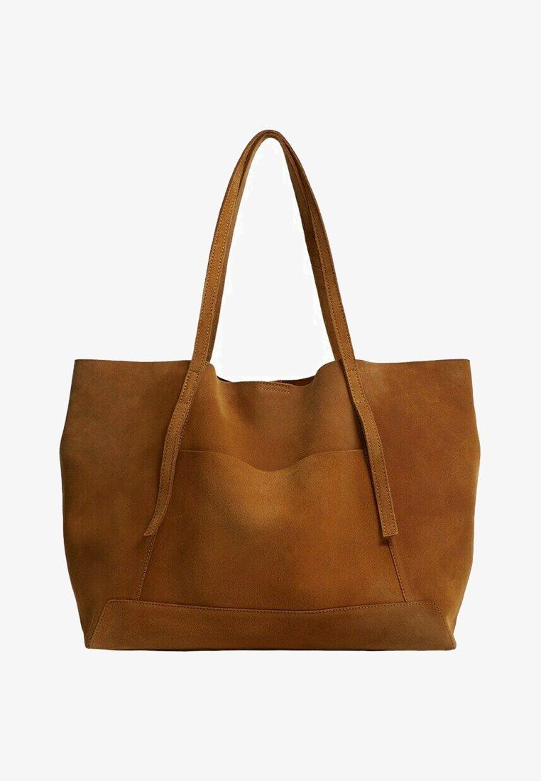 Mango - VEGA - Shoppingveske - marrón medio