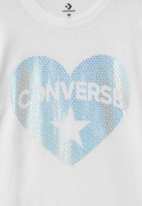 Converse - HEART TEE - T-shirt con stampa - white - 2