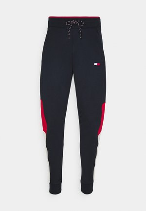 CUFFED BLOCKED PANT - Tracksuit bottoms - blue