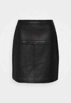 VALIAT - Áčková sukně - black