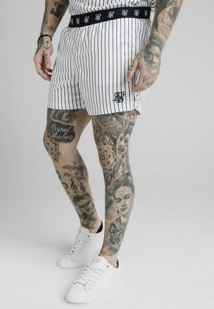 Shorts - white  navy