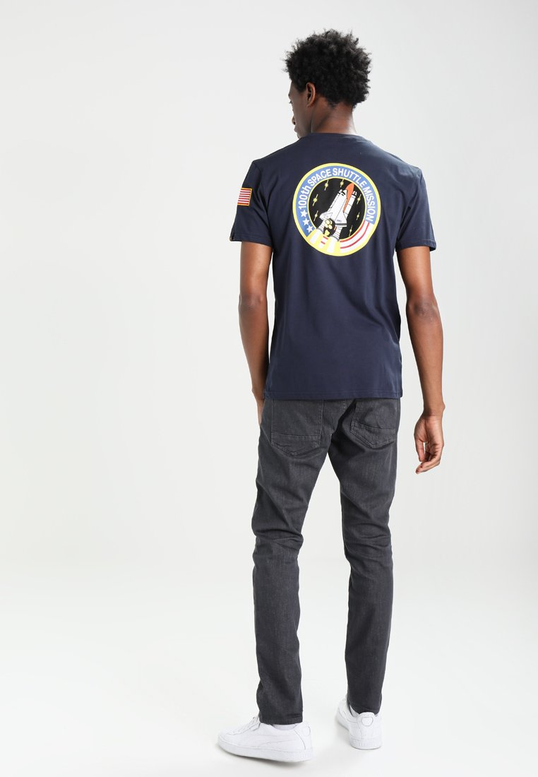 Alpha Industries 176507 - Print T-shirt - blue SSDtC