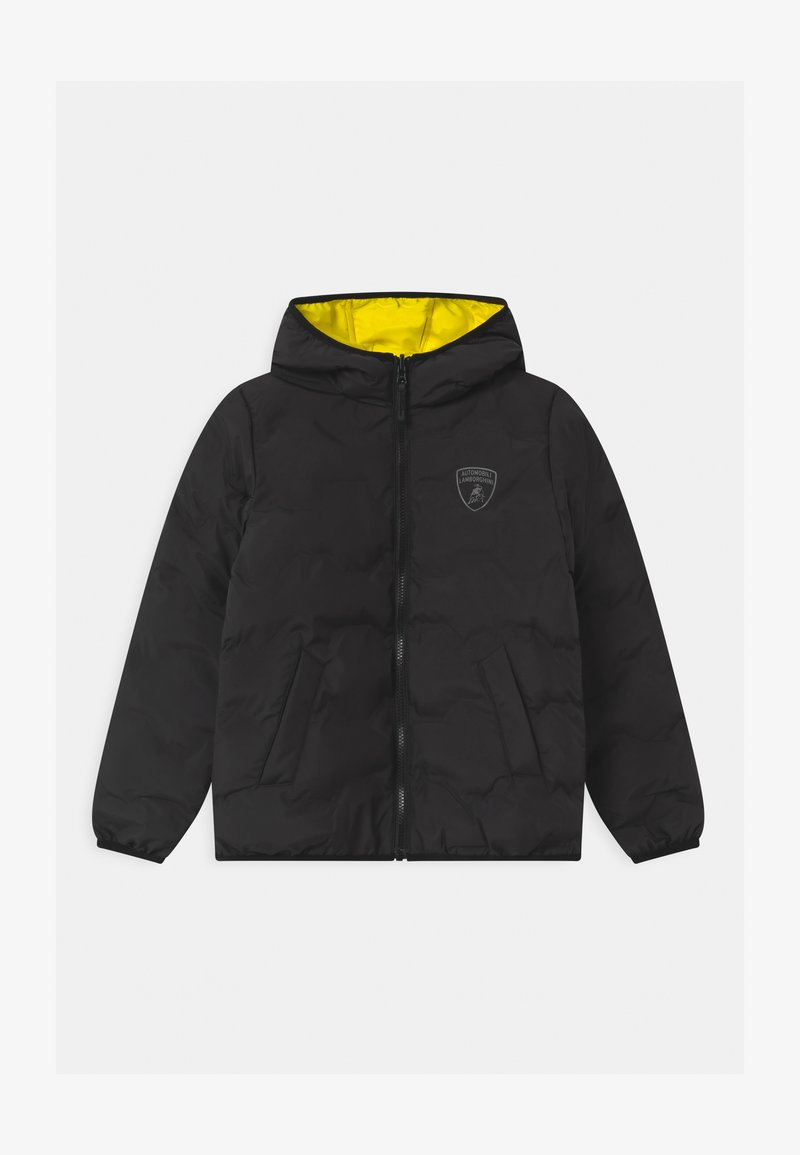 Automobili Lamborghini Kidswear - QUILTED HEXAGONS - Winter jacket - black pegaso