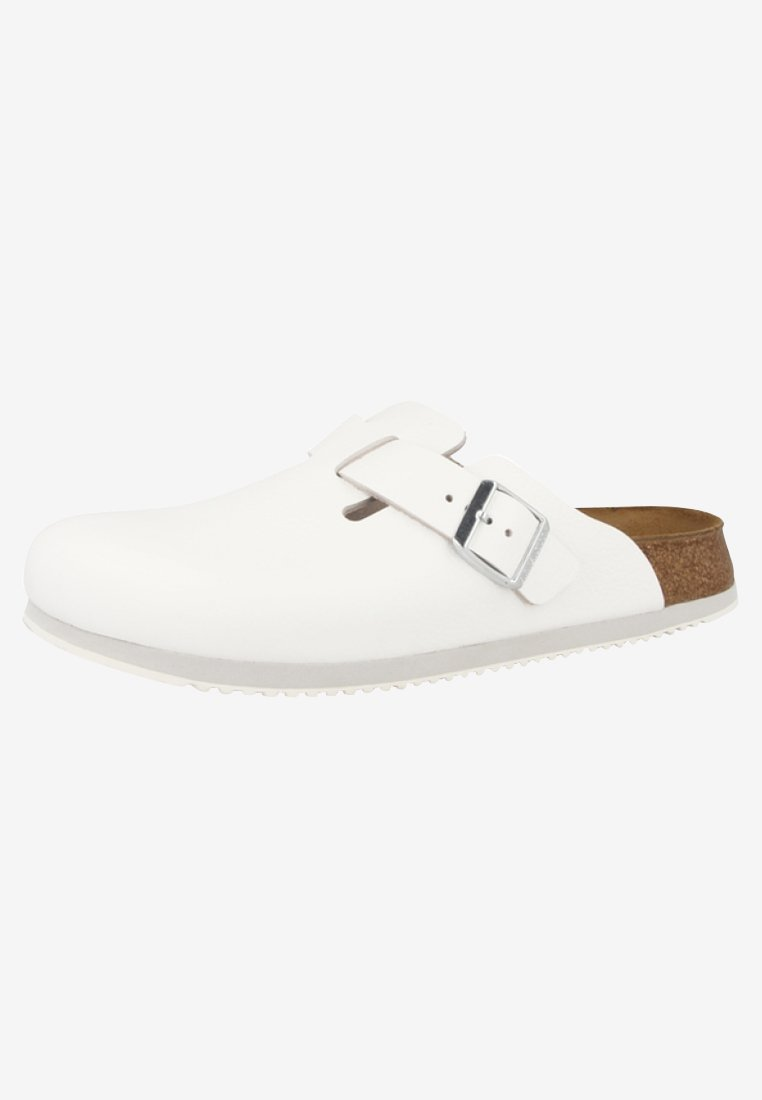 Birkenstock CLOGS BOSTON Pantolette flach white/weiß