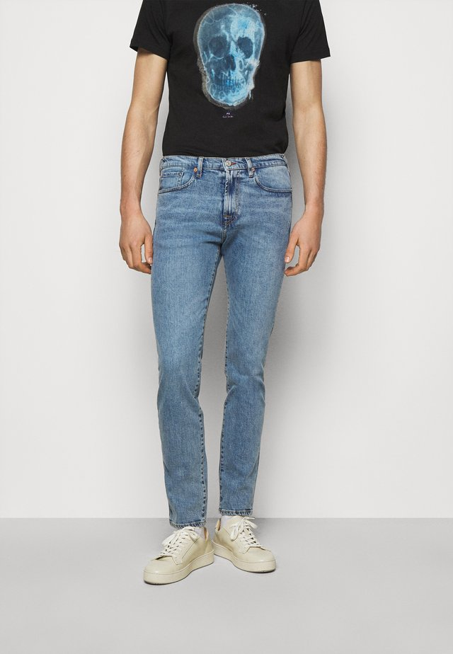 MENS - Jean slim - light-blue denim