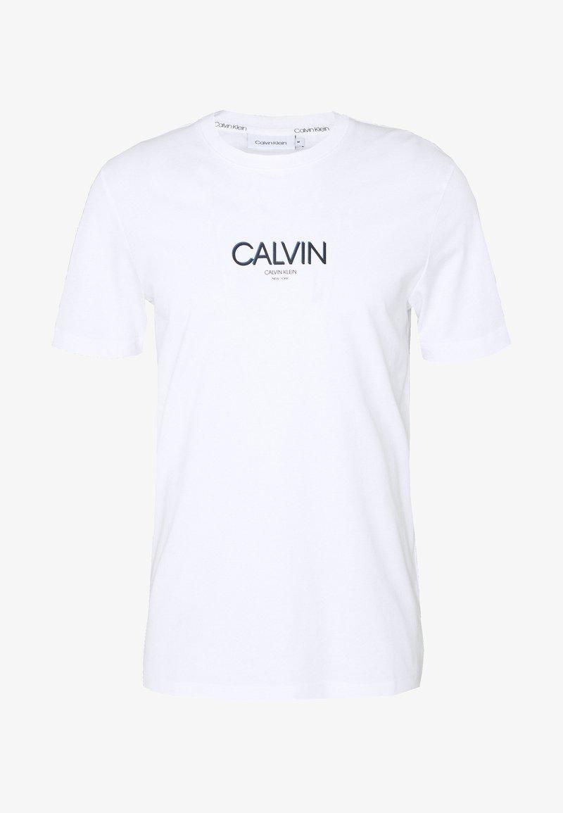 Calvin Klein - SMALL TONE LOGO - Print T-shirt - white