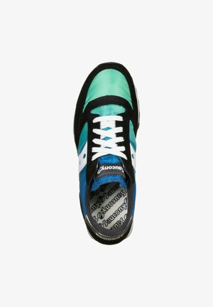 SCHUHE JAZZ - Baskets basses - black/blue/green