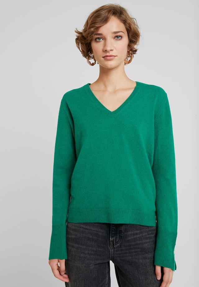 V NECK - Neule - green